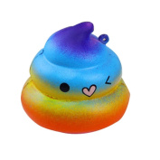 Relieve stress toy, Tianya Exquisite Fun Crazy Poo Scented Squishy Charm Slow Rising 7cm Simulation Kid Toy