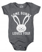 Crazy Dog Tshirts Creeper Some Bunny Loves You Jumpsuit Funny Easter Egg Rabbit Tee For Babies