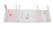Hugs & Kisses Baby Girls Pink Cot/Cotbed Bumper