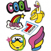 Soft Stickers, sheet 12,2x1775cm, Cool Girl, 1sheet