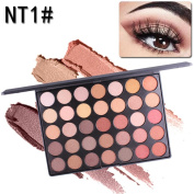 Xshuai MISS ROSE 35 Colour Shimmer Glitter Eye Shadow Powder Palette Lasting Natural Matte Eyeshadow Cosmetic Makeup Set