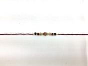 Diamante and Red/Green Beaded –Rakhi Thread/Rakhi Bracelet/Bhaiya Series