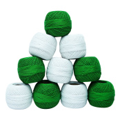 10 Pcs Embroidery Tatting Skein Crochet Mercer Cotton Thread Yarn Craft Knitting