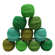 Crochet Mercer Cotton Thread 10 Pcs Yarn Embroidery Knitting Skein Tatting