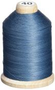 YLI 21100-014 3-Ply T-40 Cotton Hand Quilting Thread, 1000 yd, Grey - Blue