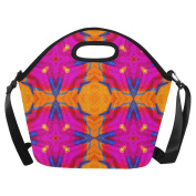 AnnHomeArt tie dye Neoprene Lunch Bag Lunch Tote Lunch Boxes Large