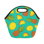 AnnHomeArt pineapple Neoprene Lunch Bag Lunch Tote Lunch Boxes Small