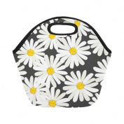 AnnHomeArt flower Neoprene Lunch Bag Lunch Tote Lunch Boxes Small
