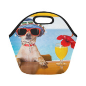 AnnHomeArt dog Neoprene Lunch Bag Lunch Tote Lunch Boxes Small