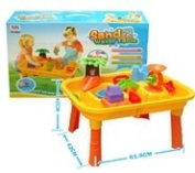 NBD Sandbox Play Table - Sand Water Table, Aquatic Arena Sandbox Activity Play Set - Play Sand and Water, Beach Toy Play set