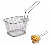 URBeauty 1Pcs Chips Fry Baskets Stainless Steel Fryer Basket Strainer Serving Food Presentation Cooking Tool French Fries Basket