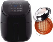 Nuwave Brio 2.8l. Air Fryer with 28cm Stainless Steel Ceramic Coated Grill Pan