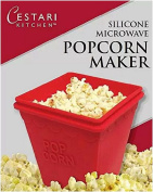 Microwave Popcorn Popper| Set of 2 Healthy Air Popcorn Poppers - No Oil Needed | BPA Free Silicone Microwave Popcorn Maker | by Cestari Kitchen