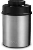 Gourmia GCC9325 Vacuum Sealed Coffee Canister – Stainless Steel Food Storage Container with Built-In Sealer and Date Indicator to Track Freshness – Protects from Heat, Moisture, UV Lights and More