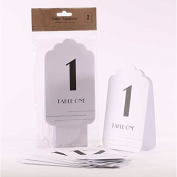 White and Silver Glitter Table Numbers 1- 12