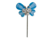 CLUB GREEN Butterfly with Centre/Stem, Blue, 2.5 x 2 cm, 6 per pack