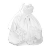 Bridal Bridesmaid Satin Flower Decorated Wedding Dolly Bag Handbag Wedding Su...
