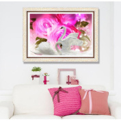 MORESAVE DIY 5D Diamond Swan Lovers Embroidery Painting Cross Stitch