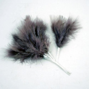 FloristryWarehouse Fluff Fluffy Wired Craft Feather x 6 Aubergine