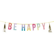 Talking Tables 3.5 m Be Happy Garland with Letters and Tassels