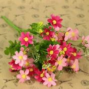 HuntGold Wedding Party Home Decor Artificial Fabric Lot Chrysanthemum Bouquet Stem Flower