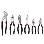 6 PC Utility Plier Set with Storage Pouch by Stalwart