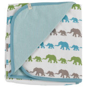 Pigeon Organics for kids Elephant Blanket – Blue Mix