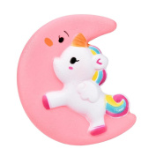 Molyveva Jumbo Slow Rising Squishies Cute Moon Unicorn Squishy Cream Scented Charms Kawaii Squishy Toys For Kids and Adults
