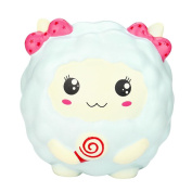 E-SCENERY Kawaii Jumbo Alpaca Sheep Squishy Toys, Squishies Stress Toys Squishy Kawaii Squishy Stress Reliever Anxiety Toys Slow Rising Cream Scented Toy For Children Adults