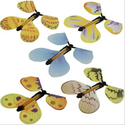 5 Pcs Magic Butterfly Flying in the Book Fairy Rubber Band Powered Wind Up Butterfly Toy Great Surprise Wedding Birthday Gift