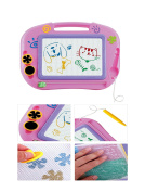 Kids Colourful Magnetic Drawing Writing Erasable Board with Stylus and Stamps