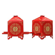 Fletion 100 PCS Chinese Traditional Wedding Red Bridal Sedan Chair Wedding Paper Box Wedding Decor Favours Reception Decor Arts Crafts Candy Gift Boxes Candy Bag for Chocolate Alpenliebe Candy Ferrero