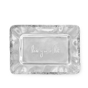 Beatriz Ball Alst Rectangular Engraved Tray with Pearls-Lyal