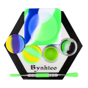 Bynhieo Non-stick 37ml Cube wax jars+5ml Silicone Container 2pc+Acrylic Silicone case 2pc+Hexagon Mat +Stainless Steel Carving Tool