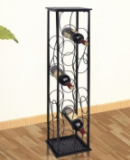 SKB Family Metal Wine Rack Wine Stand for 8 Bottles wrought iron