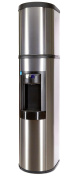Absolu Stainless Steel Water Cooler, Matching Stainless Cover Hot & Cold - Made in North America