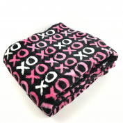 Valentines Day Plush Throw Blanket XOXO Hugs and Kisses Gift Morgan Home