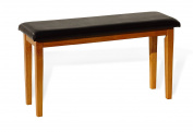 Dining Kitchen Solid Wooden Bench Stained Classic Design in Maple Finish Padded Seat