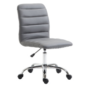 Poly and Bark Polox Task Chair in Vegan Leather, Grey
