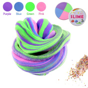 Philonext Fluffy Floam Slime Super Soft and Non-Sticky Non Toxic Stress Relief Toy Scented Sludge Toy for Kids and Adults, ASTM Certified Mixed Colour Floam Slime with Colourful Foam Beads