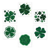 144PCS Assorted St. Patrick's Day Kids Tattoos - Shamrock Irish Temporary Party Favours Gifts