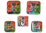 PJ Mask Party Bundle 23cm Plates (16) 18cm Plates (16) Napkins