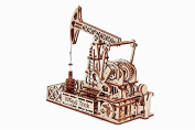 Oil-tower - Wooden 3D puzzle, Mechanical Models Assembly Constructor