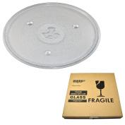 HQRP 10-1/2 inch Glass Turntable Tray for Panasonic A0601-1480 GAEMU1000P23 P23 MQS0660E NNS446BA NNS446KA Microwave Oven Cooking Plate 270mm + HQRP Coaster