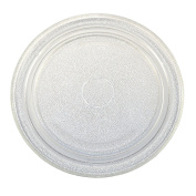 HQRP 25cm - 1.9cm Glass Turntable Tray for Sharp A034 NTNT-A034WRE NTNT-A011WRE0 NTNT-A034WRE0 NTNT-A011WRF0 NTNT-A034WRF0 NTNT-A130WREZ 504316 501560 MOS0649 Microwave Oven Cooking Plate + Coaster