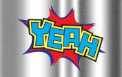 YEAH Comic Book Action Text - 15cm Vinyl Decal for Instant Pot Appliances