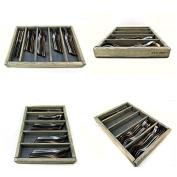 Knork Standard Size Wood Storage Tray, Weathered Grey
