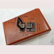 Zehui Latch Lock Retro Decorative Bronze Buckle Hasp Latch Lock for Wooden Box Jewellery Chest 6PCS