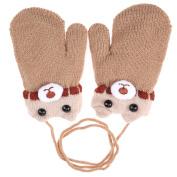 Domybest Children Kids Boy Girl Warm Gloves Cartoon Pattern Fleece Thicken Mittens