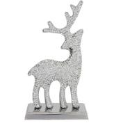 Glitz Diamante Reindeer Decoration-Clear
